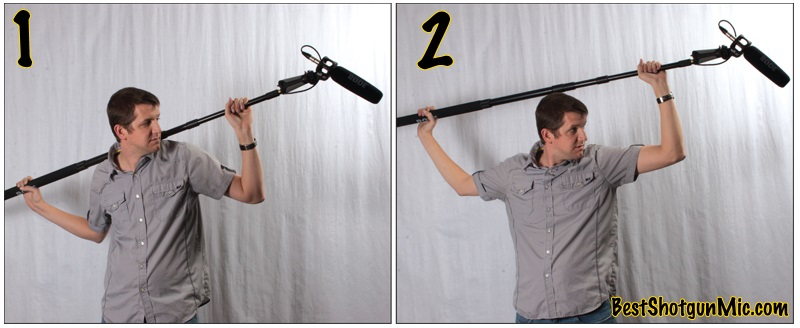 Boom-pole handling positions and angles